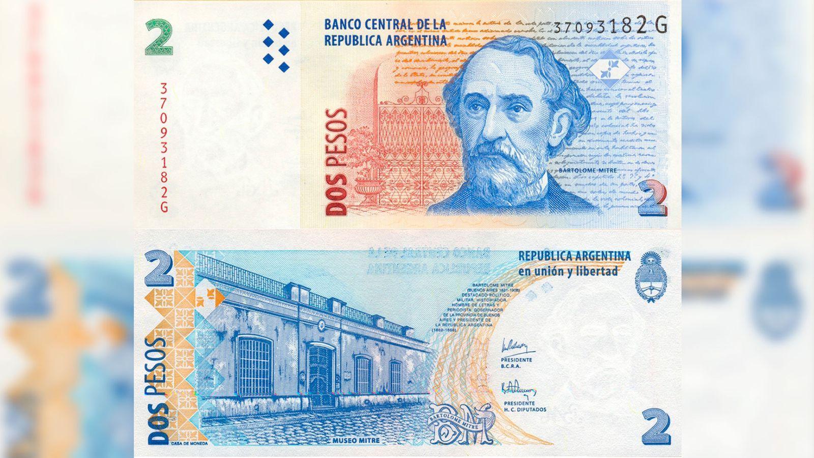 ¡ultimas semanas! subastan billetes de 2 pesos por mas de 8 mil