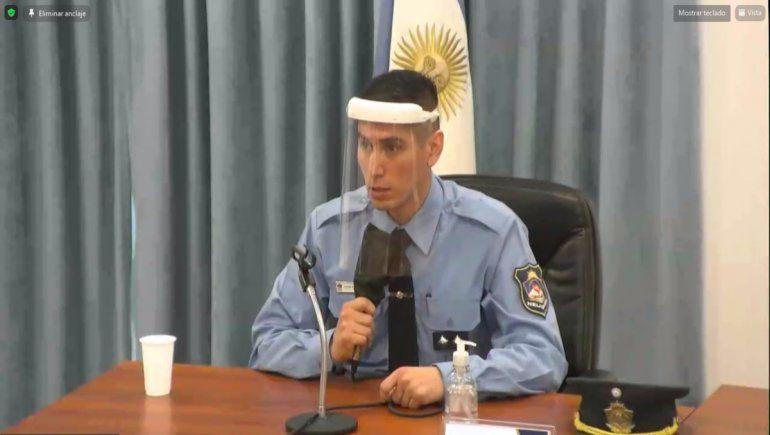 El oficial Castillo, de Criminalística, declaró en el juicio contra Sara Miranda por el crimen de Roque Mora.