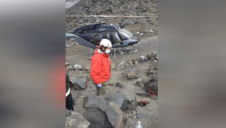 Un joven neuquino debió ser rescatado tras sufrir una caída en el Lanín