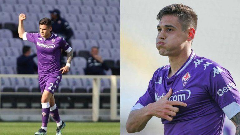 El festejo de su primer gol y el gesto por Cachete Montiel.