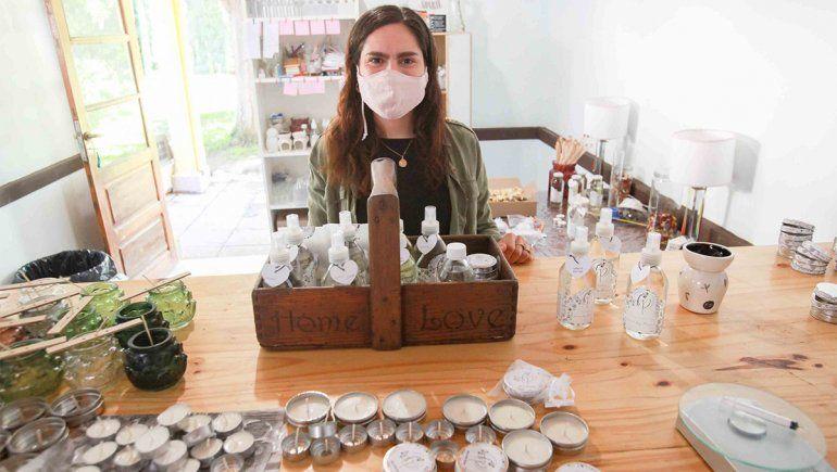 Valentina fabrica aromas en pandemia