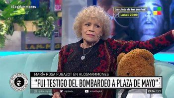 En Los Mammones, María Rosa Fugazot recordó el bombardeo a Plaza de Mayo