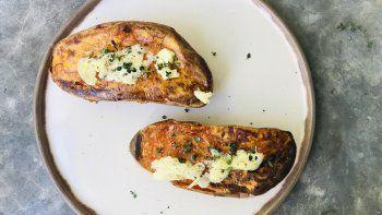 horno y sencillez: boniato con manteca y tomillo