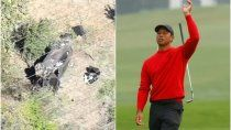 drama: tiger woods sufrio un grave accidente