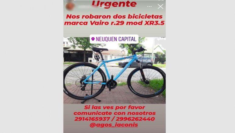 Los damnificados intentan recuperar las bicicletas que les robaron.
