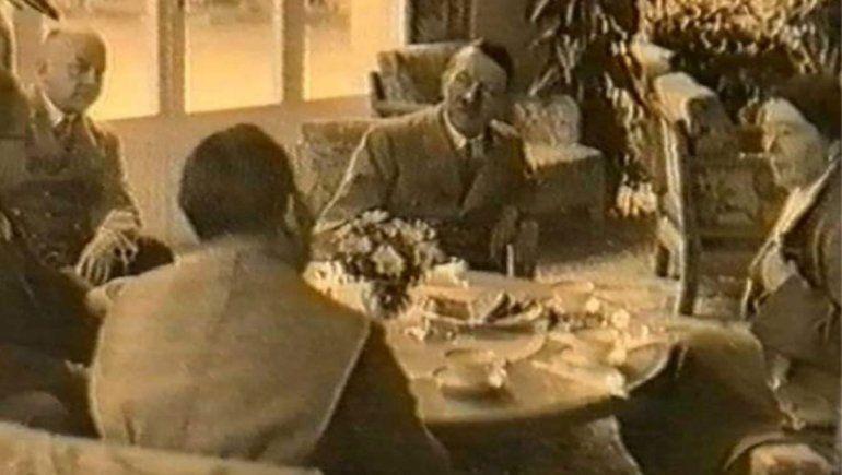 Los Eichhorn reunidos con Hitler en Alemania.