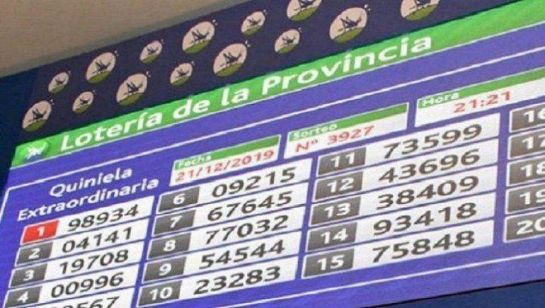 Resultado Quiniela de la Provincia: Primera del 21 de julio