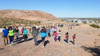 organizan una caminata para frenar la violencia patriarcal