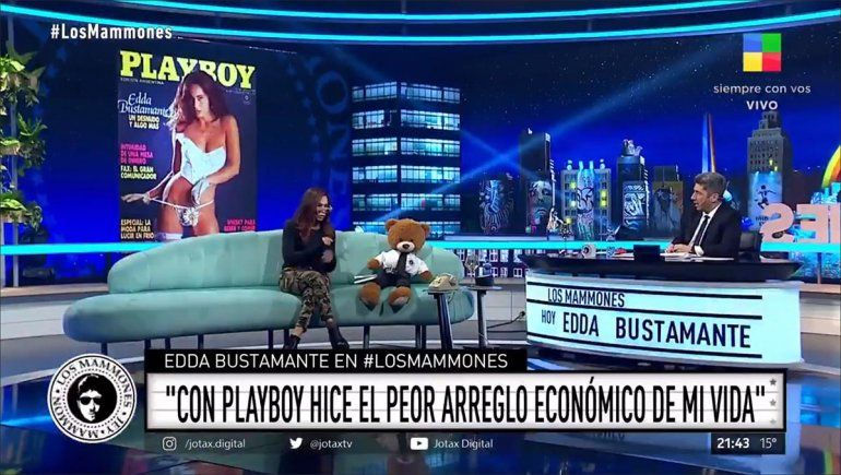 Edda Bustamante contó que el peor arreglo económico de su carrera lo tuvo con la revista Playboy.