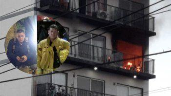 tragedia: tres bomberos combatiendo el incendio de un departamento