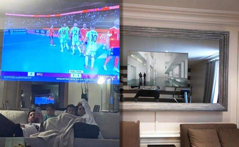 El misterioso televisor de Messi: cómo funciona y cuánto cuesta