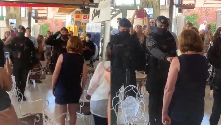 El polémico video del saludo de 6 policías a Patricia Bullrich