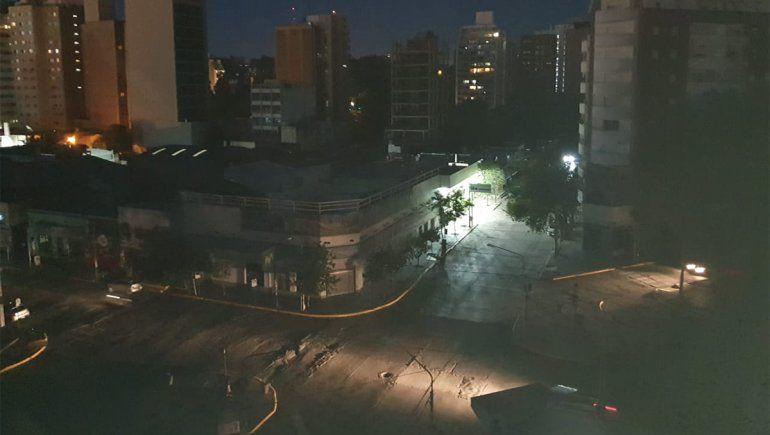 Apagón afectó el centro y centro oeste de la ciudad