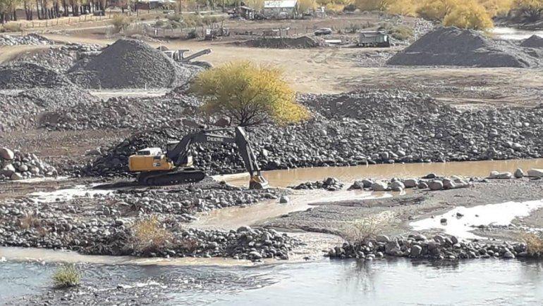 Preocupación por el bajo caudal de agua en el norte neuquino