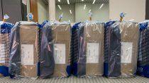 paso: distribuyeron las urnas a los lugares de votacion