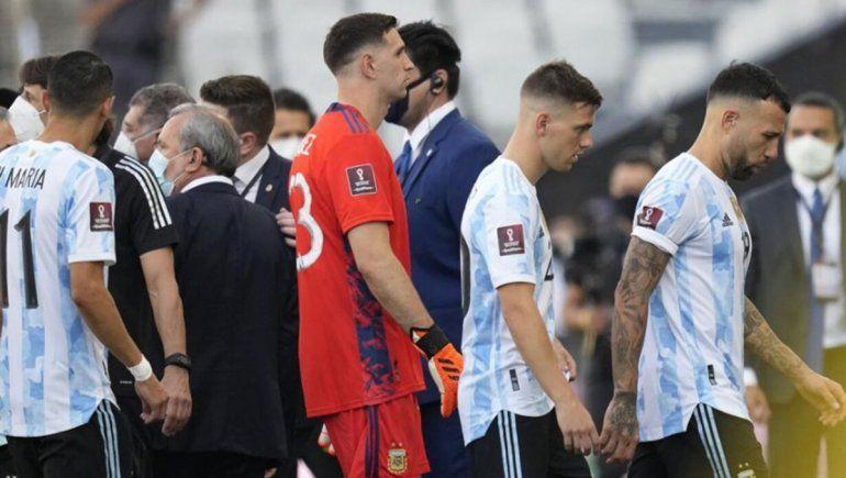 ¡Cagones!: El grito de los jugadores argentinos camino al vestuario