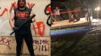 tremendo: luchador amateur se quebro las piernas en el ring