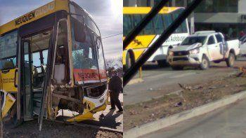 fuerte choque contra un colectivo en el metrobus