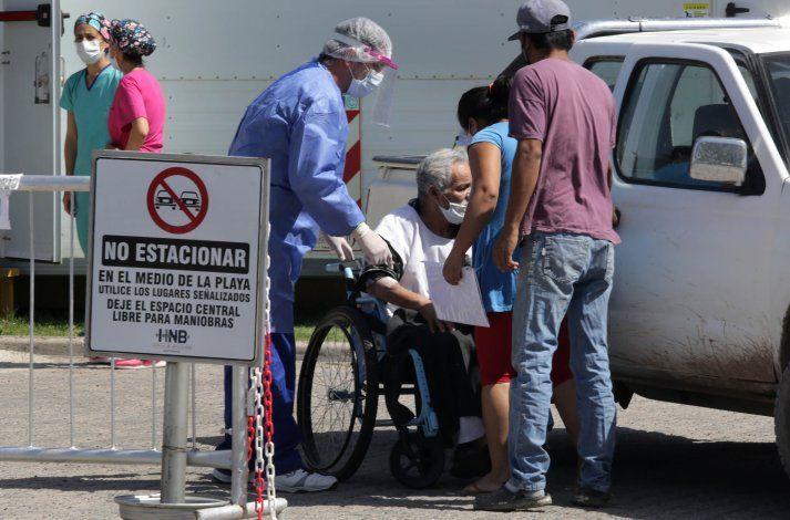 los pacientes de urgencia respiratoria, en el hospital de Centenario.