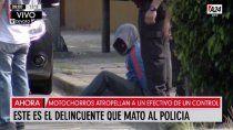 motochorros atropellaron y mataron a un policia: un delincuente murio