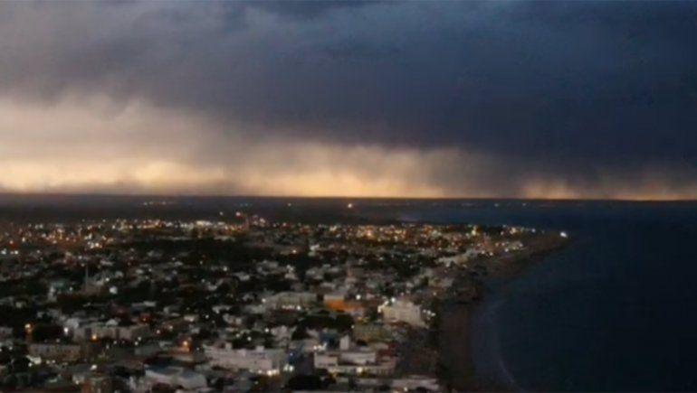 Desde un drone: así se vivió la emoción del eclipse en Las Grutas