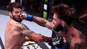 Cody Garbrandt y su terrible golpe para ganar la pelea.