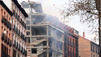 dos muertos tras una fuerte explosion en un edificio en el centro de madrid