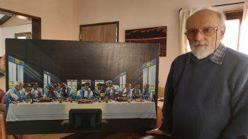 Pintó a Maradona y Gardel, y hoy tiene una posada en el Huechulafquen