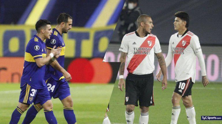 Con Suárez y Villa descartados, los probables 11 de River y Boca
