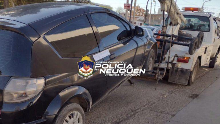 La Policía neuquina logró secuestrar 10 vehículos en el Oeste.