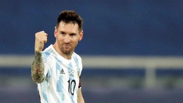 El mensaje de Messi con festejo maradoniano