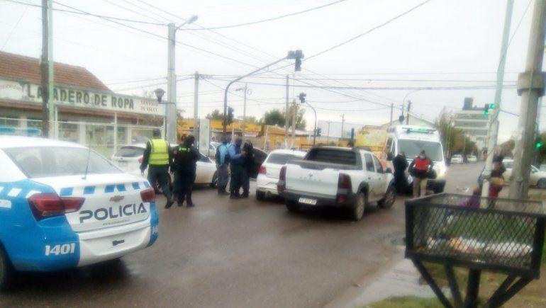 Imprudencia: triple choque en el oeste de la ciudad