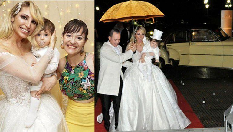 Vicky Xipolitakis volvió a apostar por un diseño neuquino para el cumple de su hijo estilo casamiento