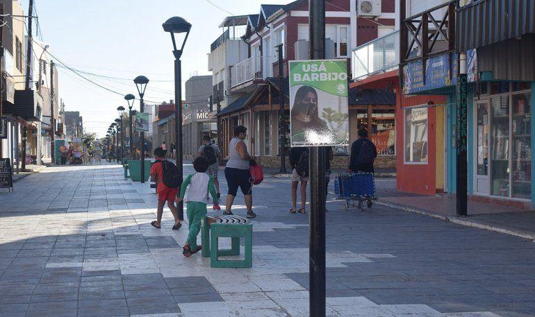 En la peatonal también hubo movimiento de gente.
