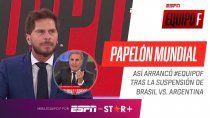 con una pregunta, vignolo descoloco al responsable de la suspension de brasil-argentina