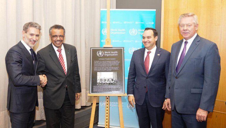 La OMS celebró los 40 años  libres de viruela