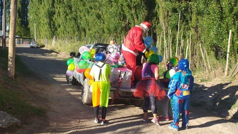 El protocolo por el Covid afectó hasta los recorridos de Papá Noel