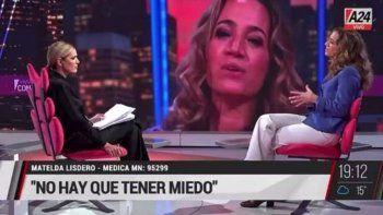 Canosa y una médica antivacunas con teorías a lo Ivana Nadal