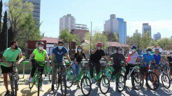 Gaido relanzó el programa de bicicletas públicas gratuitas