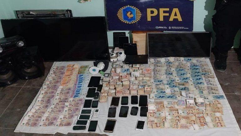 Valentina Sur: droga, celulares y $175 mil en kiosco narco allanado