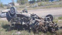 ruta 7: cuatro vehiculos involucrados en un tremendo accidente