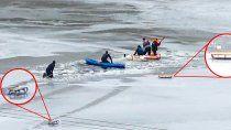 dos ninos cayeron al agua helada del dique y murieron