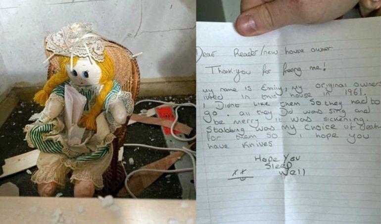 Misterio: halló una muñeca asesina en su nueva casa