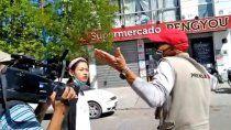 operativo en un super chino termino con agresiones a la prensa