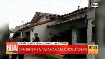 Viral: vecina indignada paró a las gritos una fiesta con más de 40 jóvenes