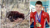 joven boxeador peleo con un oso y lo mato