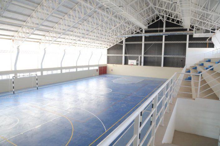 El gimnasio Maradona por dentro.