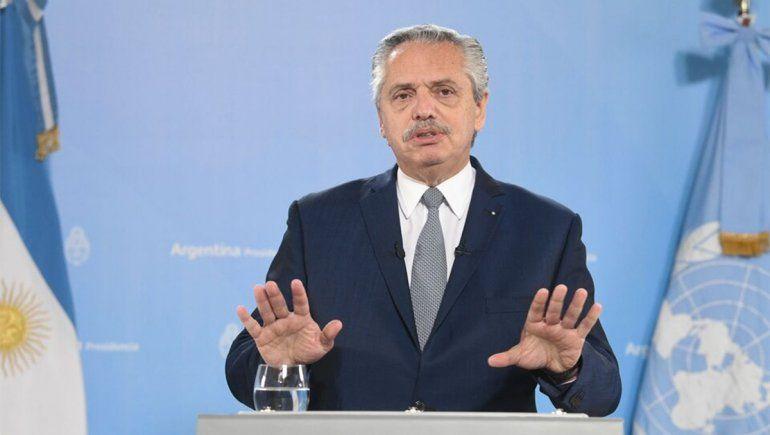Ante la ONU, Alberto le apuntó a Macri y habló de un deudicidio