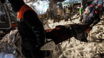 tragedia en pista de esqui rusa: un alud mato a una familia