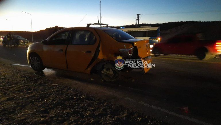 El choque entre un auto y un taxi tuvo lugar en el rulo de la Autovía Norte y la Ruta 7.